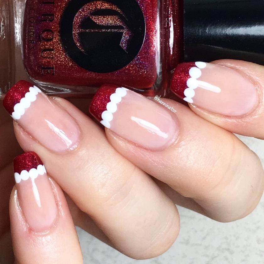 Santa french manicure – Hanninator