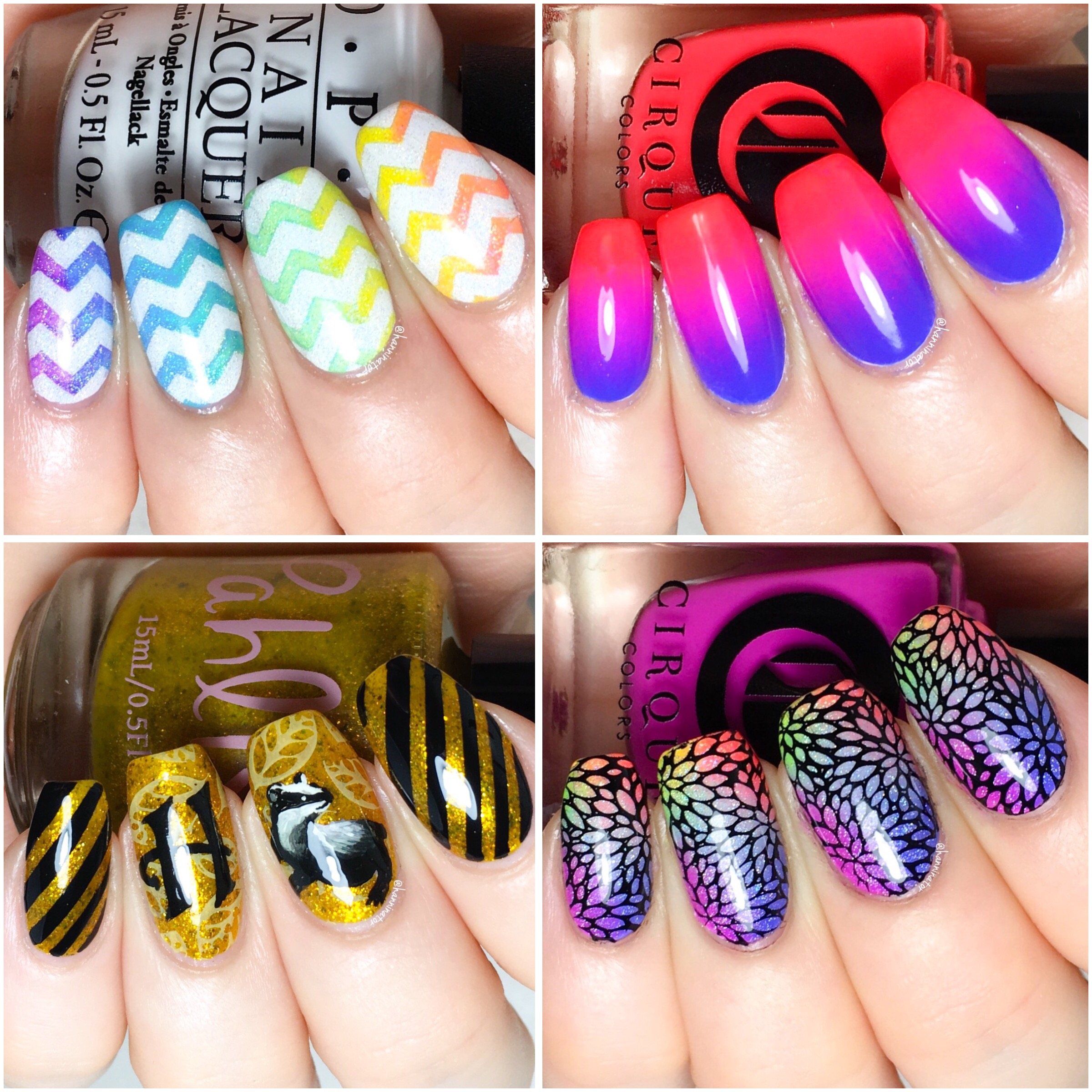 Lina nail art supplies hanninator my absolute favorite design from march is my freehanded hufflepuff nails which one of these designs do you like the most prinsesfo Gallery