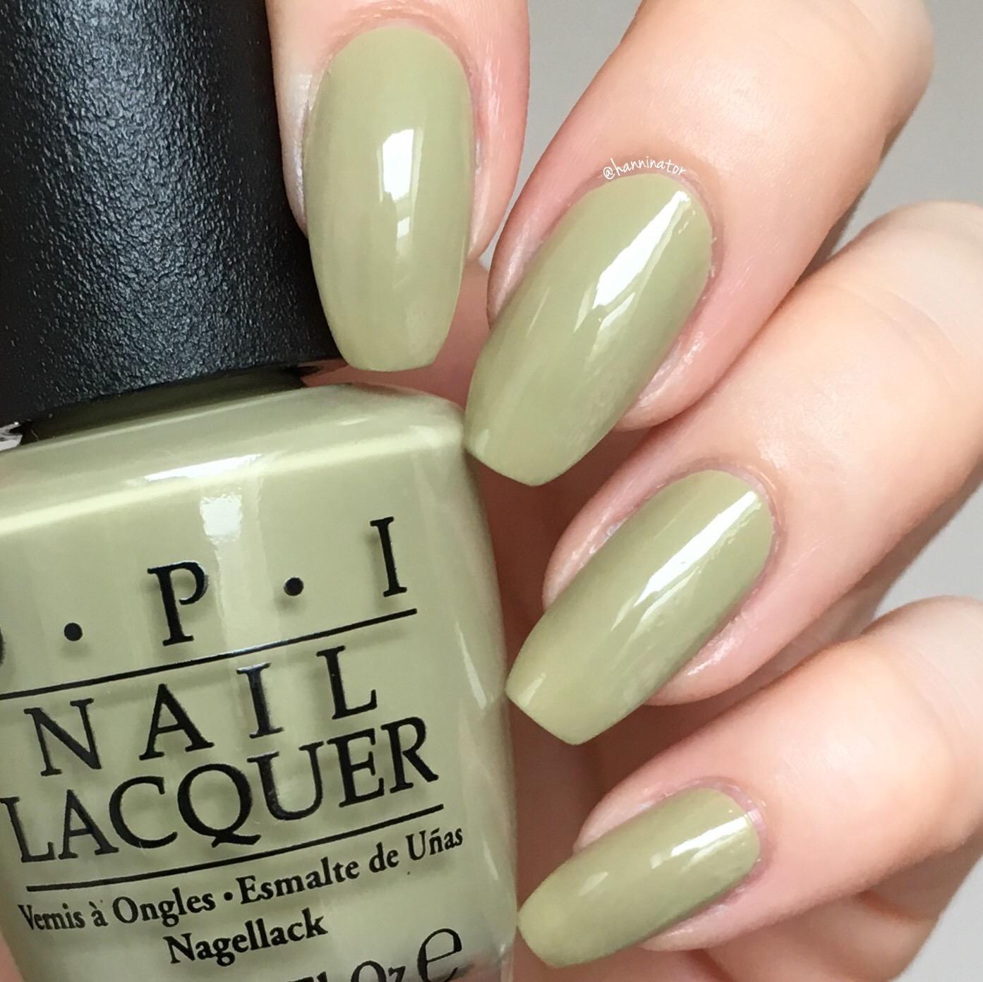How To Make Olive Green Nail Polish: OPI Iceland